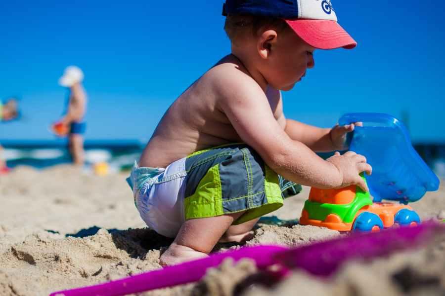 sea beach sand child